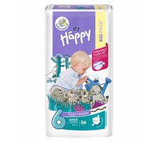 Подгузники Bella Baby HAPPY JUNIOR EXTRA (6) 54шт.