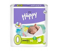 Подгузники Bella Baby HAPPY BEFORE NEWBORN (0) 46шт.