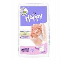 Підгузки Bella Baby HAPPY MICRO (600-1200 г) 30 шт.