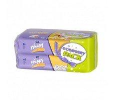 Вологі серветки HAPPY Milk&Honey 64х2шт.