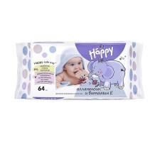 "Вологі серветки Bella Baby Happy ""Silk & Cotton"" 64 шт."