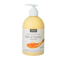 Рідке крем-мило EVA NATURA для рук, молоко та мед 500 мл