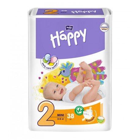 Подгузники Bella Baby HAPPY MINI (2) 38шт.