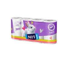 Туалетная бумага Bella№1 (Karo белый), двухслойная 8 рулонов
