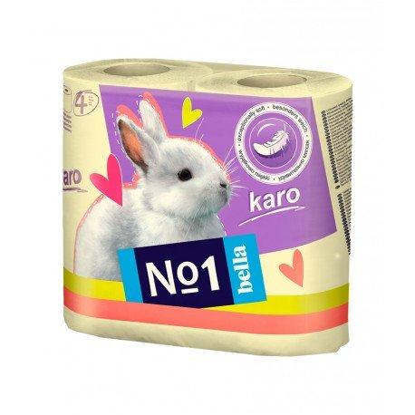 Туалетная бумага Bella№1 (Karo желтый), двухслойная 4 рулона