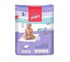 Пелёнки Bella Baby HAPPY (60х60см) 5шт.