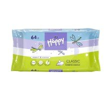 Влажные салфетки для детей HAPPY Classic 64 шт.
