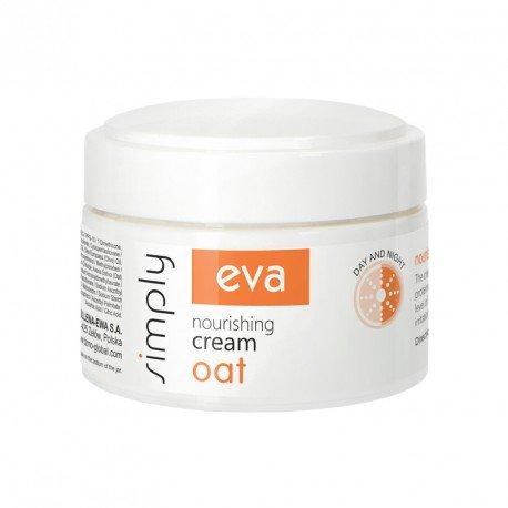 Живильний крем для обличчя з екстрактом вівса EVA SIMPLY 50 мл.
