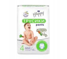 Підгузки-трусики дитячі HAPPY BELLA BABY maxi (вага 8-14 кг), 12 шт.