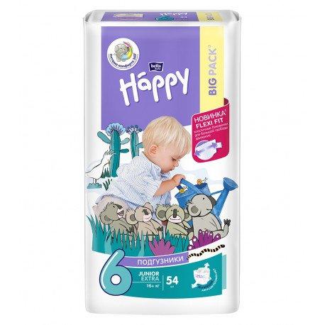 Подгузники Bella Baby HAPPY JUNIOR EXTRA (6) 54шт.