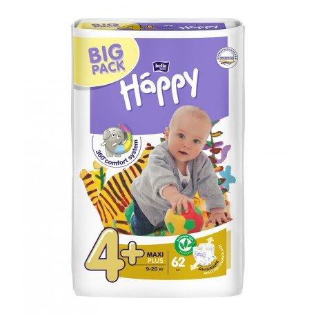 Подгузники Bella Baby HAPPY MAXI PLUS (4+) 62шт.