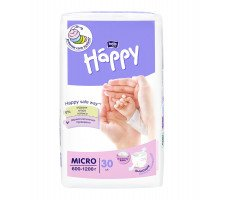 Подгузники Bella Baby HAPPY MICRO (600-1200 г) 30 шт.