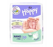 Подгузники Bella Baby HAPPY NANO (˂ 700 г) 30 шт.