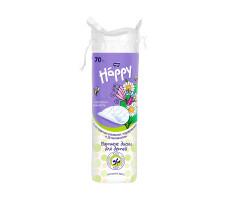 Подушечки з вати для дітей BELLA Baby Happy з екстрактом ромашки, подорожника і Д-пантенолом 70 шт.