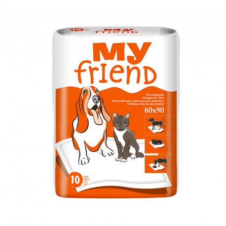 Пелюшки для тварин My Friend (90х60 см) 10 шт.