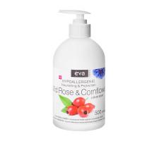 Жидкое крем-мыло EVA NATURA для рук шиповник и василек, гипоаллергенное 500 мл