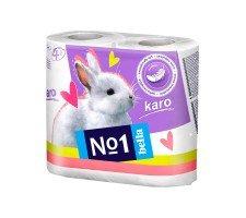 Туалетная бумага Bella№1 (Karo белый), двухслойная  4 рулона