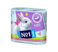 Туалетная бумага Bella№1 (Karo бирюзовый), двухслойная 4 рулона