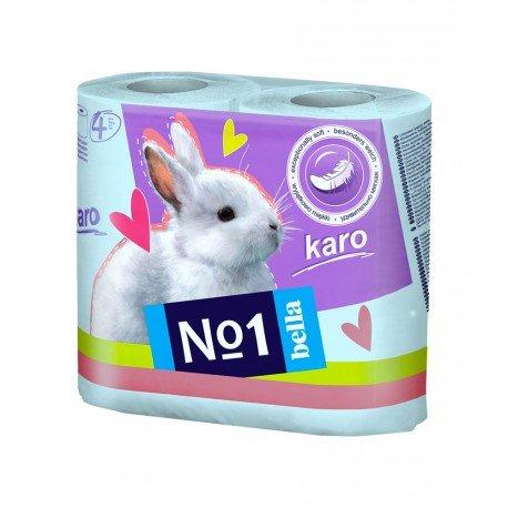 Туалетний папір Bella№1 (Karo бірюзовий), двошаровий 4 рулони