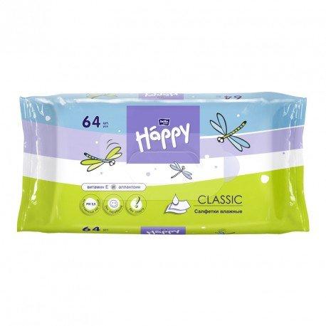 Вологі серветки для дітей HAPPY Classic 64 шт.